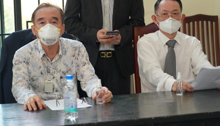 广东惠州市侨联携手柬华理事总会、林氏宗亲总会捐助防疫物资助力柬政府抗击疫情 (1)